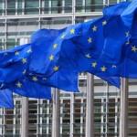 EU flags outside European Commission