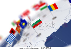 stock-photo-bulgaria-flag-in-the-focus-europe-map-with-countries-flags-shallow-depth-of-field-d-illustration-507187540